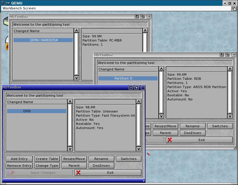 Install AROS from Qemu on an USB stick